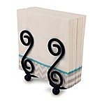 Spectrum™ Scroll Metal S-Shape Napkin Holder in Black
