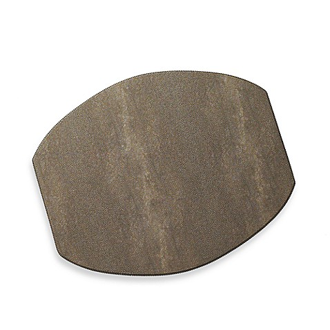 Shagreen Placemat in Chocolate