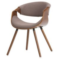 Simpli Home™ Upholstered Dining Chair in Mocha
