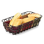 Spectrum™ Scroll Hammered Metal Bread Basket in Bronze