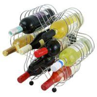 Oenophilia 9-Bottle Atomic Wine Rack in Silver