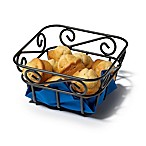Spectrum™ Scroll Metal Mini Bread Basket in Black