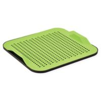Better Housewares 2-Piece Silicone Drying Mat Set in Green/Black