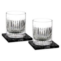 Waterford® Aras Double Old Fashioned Glasses with Coasters (Set of 2)