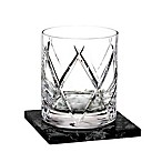 Waterford® Olann Double Old Fashioned Glasses with Coasters (Set of 2)