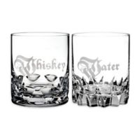 "Waterford® ""Whiskey"" and ""Water"" Double Old Fashioned Glasses"