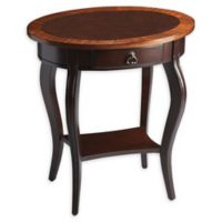 Butler Jeanette Plantation Cherry Oval Accent Table in Brown