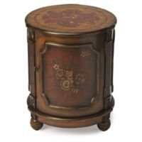 Butler Thurmond Alligator Hand Painted Drum Table in Red