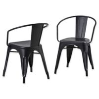 Simpli Home™ Dining Chairs in Black/silver (Set of 2)