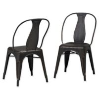 Simpli Home™ Dining Chairs in Black/copper (Set of 2)