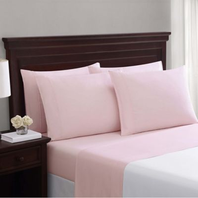 Truly Soft Everyday Cotton Blend 6 Piece Queen Sheet Set In Blush Pink