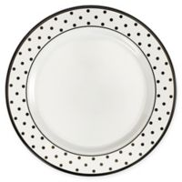 Q Squared Heritage Moonbeam Dots 4-Piece Salad Plate Set in Black/White