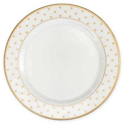 Q Squared Moonbeam Dots 8-Inch Round Salad Plate in Gold (Set of 4  sc 1 st  Bed Bath \u0026 Beyond & Buy White Rounded Square Dinnerware from Bed Bath \u0026 Beyond