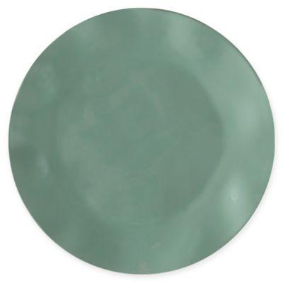 Q Squared Round Ruffle Melamine Salad Plates in Spruce Green (Set of 4)  sc 1 st  Bed Bath u0026 Beyond & Buy Green Melamine Dinnerware from Bed Bath u0026 Beyond