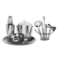 Classic Touch Mundane Pineapple 9-Piece Bar Set