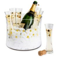 Artland® Stars 7-Piece Champagne Bucket and Stemless Flute Set