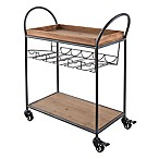 Artland Barkeep Bar Cart in Beige