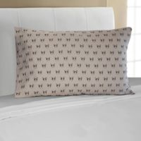 Mix and Match Bulldog 330-Thread-Count Standard Pillowcase in Grey
