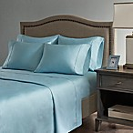 Madison Park Hotel 800-Thread-Count Cotton Blend California King Sheet Set in Aqua