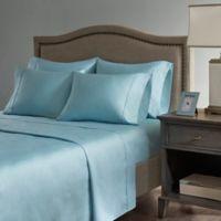 Madison Park Hotel 800-Thread-Count Cotton Blend California King Sheet Set in Aqua