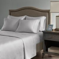 Madison Park Hotel 800-Thread-Count Cotton Blend California King Sheet Set in Grey