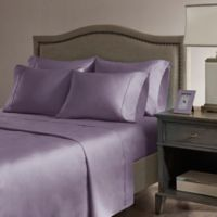 Madison Park Hotel 800-Thread-Count Cotton Blend California King Sheet Set in Purple