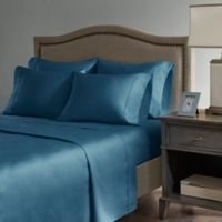 Madison Park Hotel 800-Thread-Count Cotton Blend King Sheet Set in Teal