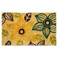 "Dynamic Rugs Aspen 18"" x 30"" Flowers Multicolor Coir Door Mat"