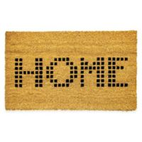 "Dynamic Rugs Vale 18"" x 30"" Home Coir Door Mat in Ivory"
