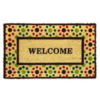 "Dynamic Rugs Aspen 18"" x 30"" Crafty Welcome Coir Multicolor Door Mat"