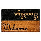 "Dynamic Rugs Vale 18"" x 30"" Welcome Goodbye Coir Door Mat in Black/Ivory"