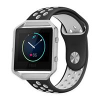 Element Works Silicone Small Band with Frame for Fitbit® Blaze™ in Black/White