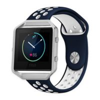 Element Works Silicone Large Band with Frame for Fitbit® Blaze™ in Blue/White