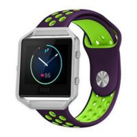 Element Works Silicone Large Band with Frame for Fitbit® Blaze™ in Purple/Green