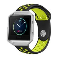 Element Works Silicone Large Band with Frame for Fitbit® Blaze™ in Black/Green