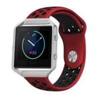 Element Works Silicone Large Band with Frame for Fitbit® Blaze™ in Red/Black