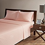 Madison Park 200-Thread-Count Fretwork Queen Sheet Set in Blush