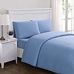 Truly Soft Everyday Solid Jersey Knit Queen Sheet Set in Blue