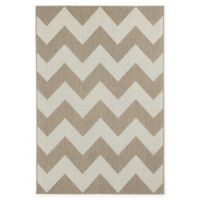 Capel Rugs Elsinore-Chevron 5'3 x 7'6 Indoor/Outdoor Area Rug in Wheat