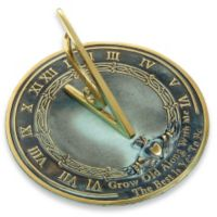 Rome Industries® Grow Old with Me Sundial in Brass