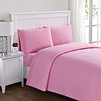 Laura Hart Kids Solid Jersey Full Sheet Set in Pink