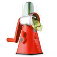NutriSlicer™ 3-in-1 Spinning/Rotating Mandoline and Countertop Food Slicer in Red