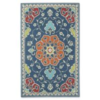 Capel Rugs Biltmore Burgos 5' x 8' Area Rug in Dark Blue