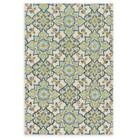 Loloi Rugs Francesca Floral 2'3 x 3'9 Handcrafted Accent Rug in Ivory/Ocean