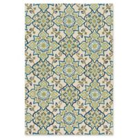 Loloi Rugs Francesca Floral 3' Round Handcrafted Accent Rug in Ivory/Ocean