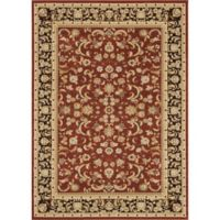 Loloi Rugs Welbourne Floral 9'2 x 12'7 Area Rug in Paprika/Coffee