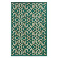 Tommy Bahama Seaside Woven 5'3 x 7'6 Area Rug in Teal/Beige