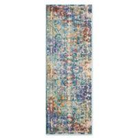 Safavieh Sutton 3' x 12' Ariel Rug in Turquoise