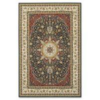 Oriental Weavers Kashan Woven 9'10 x 12'10 Area Rug in Navy