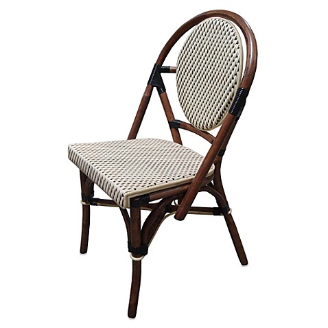 Paris Bistro Chairs Black and Ivory Set of 2 Bed